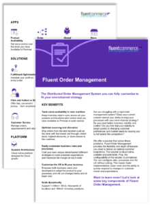 Fluent Order Management solution sheet