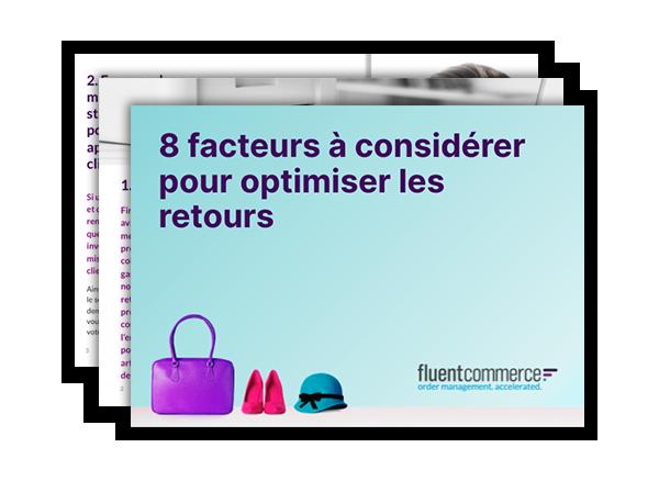 eBook cover: 8 facteurs a considerer pour optimiser les retours
